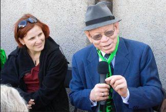 Katja Kipping und Bischof Dr. Zephania Kameeta, Foto: Andreas Trunschke