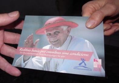 Postkarte zum Papstbesuch