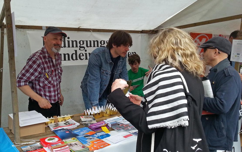 Grundeinkommen beim DGB und beim Umweltfestival