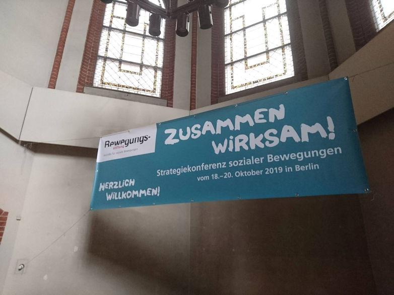 Auf der Bewegungskonferenz in Berlin