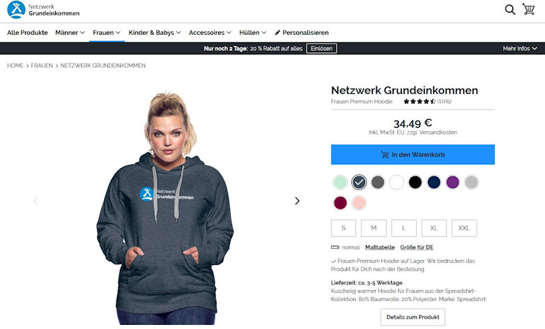 Netzwerk Grundeinkommen eröffnet Online-Shop