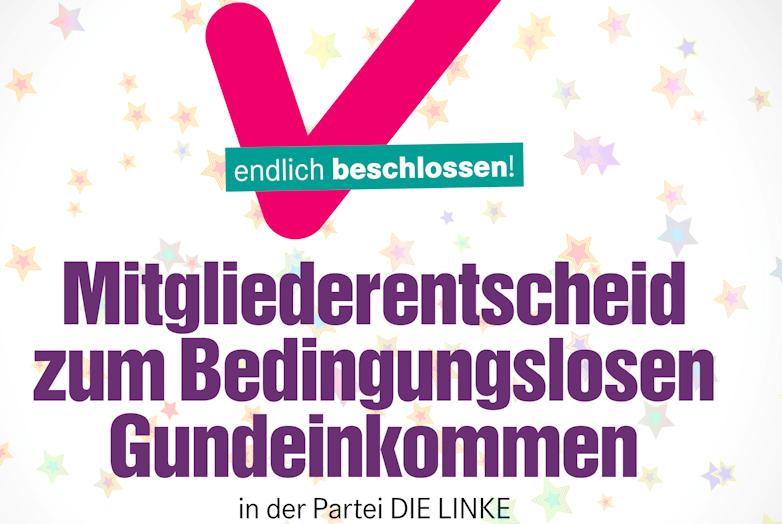 Bundesparteitag der Linken beschließt Mitgliederentscheid zum Grundeinkommen