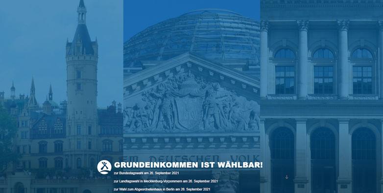 Grundeinkommen ist wählbar: Die Website zu den Bundestags- und Landtagswahlen